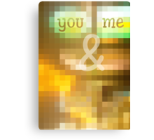 You & Me Mosaic Stained Glass Geometric Canvas Print