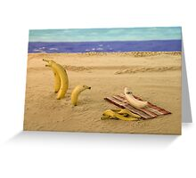 The banana nude beach Greeting Card
