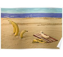 The banana nude beach Poster