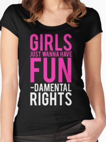 Girls Fundamental Rights Women's Fitted Scoop T-Shirt