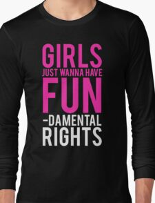 Girls Fundamental Rights Long Sleeve T-Shirt