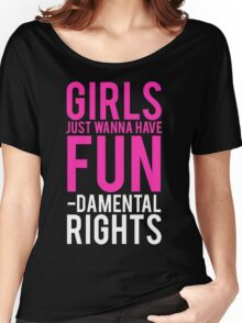 Girls Fundamental Rights Women's Relaxed Fit T-Shirt
