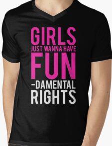 Girls Fundamental Rights Mens V-Neck T-Shirt