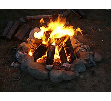 Fire Lighting Photographic Print