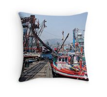 Pak Nam Pran Harbour Throw Pillow
