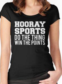 Hooray Sports Win Points Women's Fitted Scoop T-Shirt