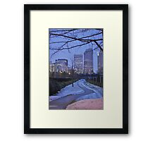 just a walk Framed Print