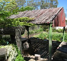 Small roofed bbq area at Spring Bluff, Qld. Australia by Marilyn Baldey