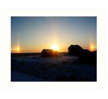 Sundog Sunset Art Print