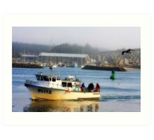 Fishing Boat, Newport, Oregon Art Print