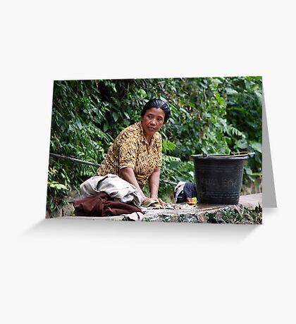 Eco washing Greeting Card