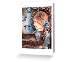 Tea in the Moonlight Greeting Card