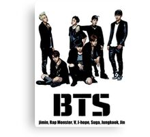 BTS Bangtan Boys Canvas Print