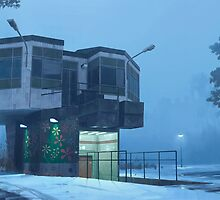 The City Council Dreams Of Flowers by Simon Stålenhag