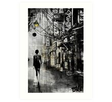 china town walk Art Print
