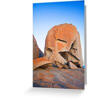 A Remarkable Rock in portrait Greeting Card