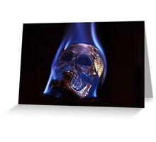 flaming skull 2 Greeting Card