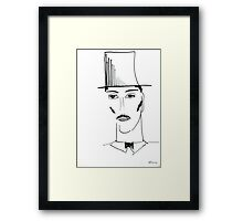 Abstract sketch of face II Framed Print