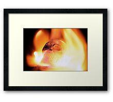flaming skull 3 Framed Print