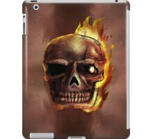 Flaming Skull Design iPad Case/Skin