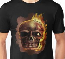 Flaming Skull Design Unisex T-Shirt