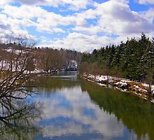 Winter River Reflection by marchello