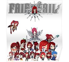 Fairy Tail many faces of Erza Poster