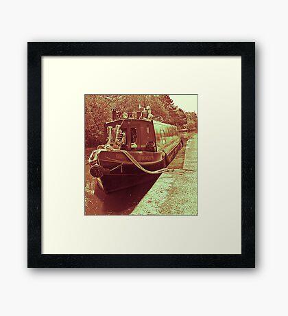 barge. Framed Print