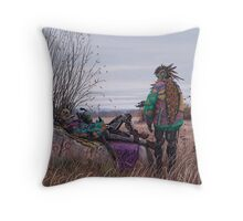 Vagabonds - The Magpie Charmer And Bub Throw Pillow