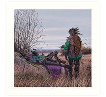 Vagabonds - The Magpie Charmer And Bub Art Print