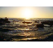 the golden sea Photographic Print