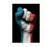 Flag of France on a Raised Clenched Fist  Art Print