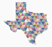 Texas Geometric Colorful Triangles Hipster Texas Baby Tee