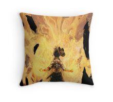 Fire Fist Ace Throw Pillow