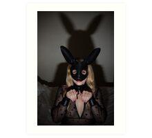Masked Rabbit Art Print