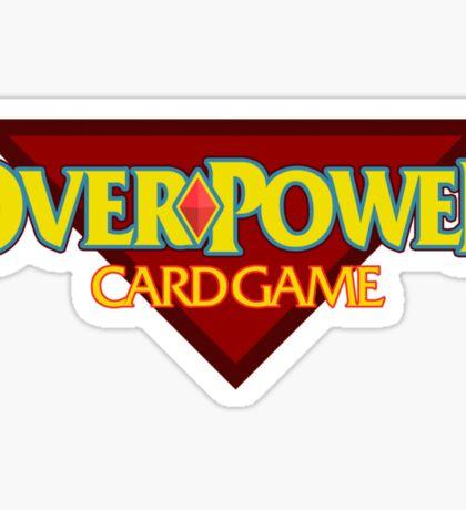 Overpower Card Game Sticker