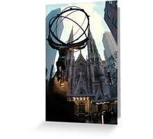 Manhattan's Gothic-Style Cathedral Greeting Card
