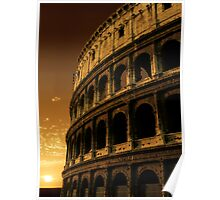 colosseum sunrise Poster