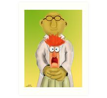 Bunsen and Beaker Art Print
