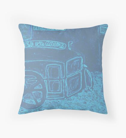 The fish and chip van  Throw Pillow