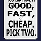 Good, Fast, or Cheap. Pick Two! by Kowulz