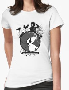 Music makes the world go round Womens Fitted T-Shirt