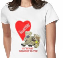 Teddy Valentine  Womens Fitted T-Shirt