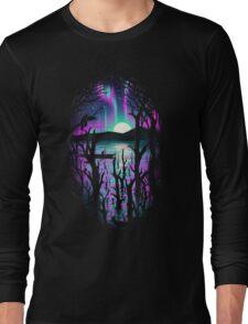 Night With Aurora Long Sleeve T-Shirt