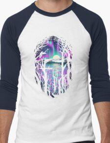 Night With Aurora Men's Baseball ¾ T-Shirt