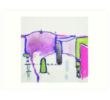 Memory Trace 2 Purple Art Print