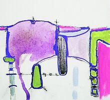 Memory Trace 2 Purple by Jenny Davis