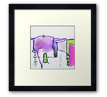 Memory Trace 2 Purple Framed Print
