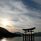 Tori gate-Hiroshima by Yuning