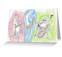 Monster Band Greeting Card